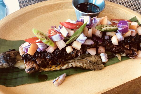 Crispy Binagoongan eggplant side