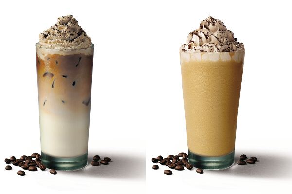 Starbucks Iced Asian Dolce Latte and Frappuccino