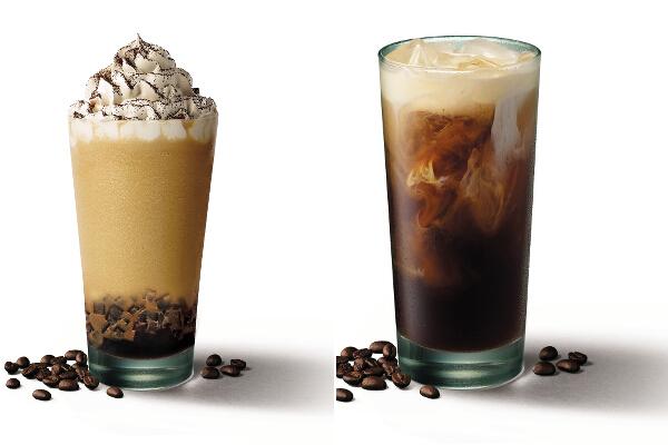 Starbucks Irish Cream Coffee Jelly Frappuccino and Cold Brew