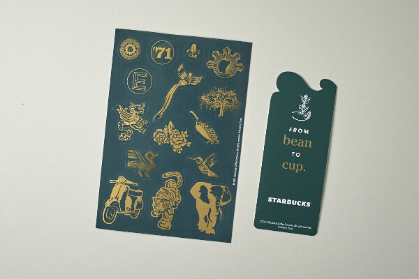 Starbucks Stickers and Bookmark