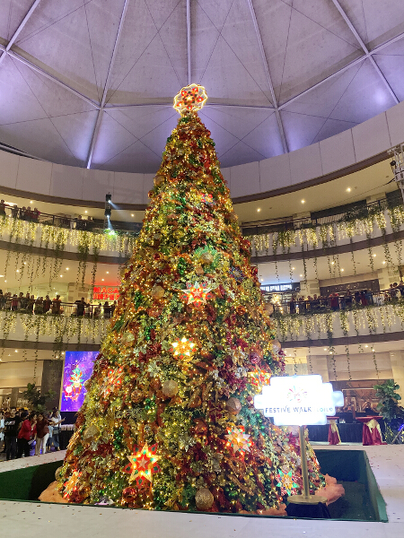 Iloilo Business Park Christmas 2019 Christmas tree portrait