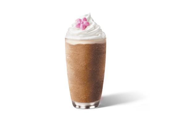 Chocolate Black Tea Peach Blossom Cream Frappuccino_