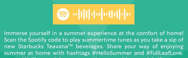 Strabucks Summer Beverages_Spotify